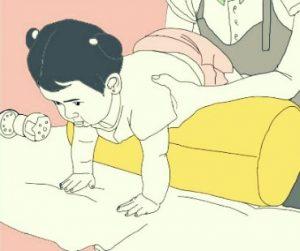 ejercicio con rodillo para bebe