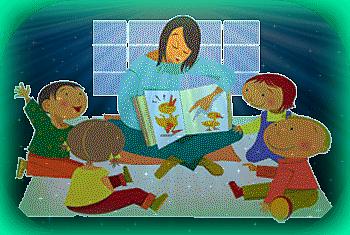 maestra enseñando a niños en clase