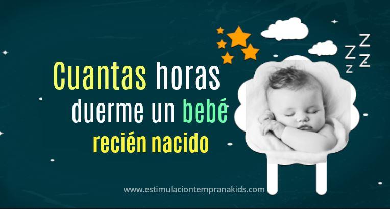 cuantas horas duerme el recién nacido