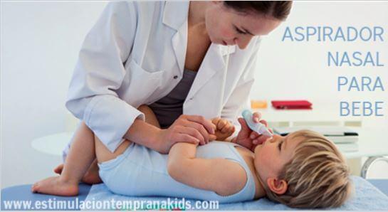 como usar el aspirador nasal de bebé
